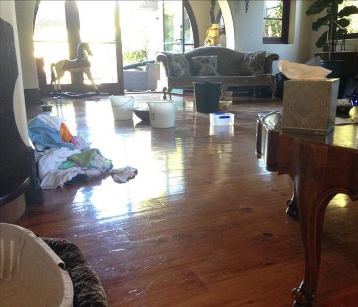 Flooded Living Room Pacific Palisades CA Before