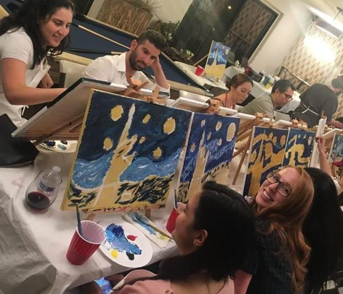 Why SERVPRO SERVPRO of North Hollywood Sponsors Mobile MozArt Paint Night