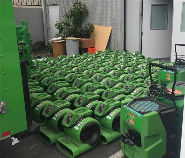 Industrial strength SERVPRO air movers